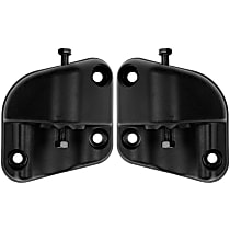 Mirror Hardware - Black, Direct Fit, Set of 2