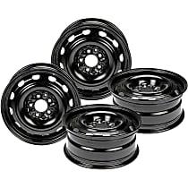 SET-RB939107-4 Black Finish Wheel - 16 in. Wheel Diameter X 6.5 in. Wheel Width