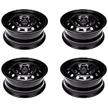 SET-RB939111-4 Black Finish Wheel - 15 in. Wheel Diameter X 6 in. Wheel Width