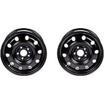 SET-RB939122-2 Black Finish Wheel - 16 in. Wheel Diameter X 6.5 in. Wheel Width