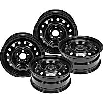SET-RB939122-4 Black Finish Wheel - 16 in. Wheel Diameter X 6.5 in. Wheel Width