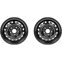 SET-RB939158-2 Black Finish Wheel - 16 in. Wheel Diameter X 6.5 in. Wheel Width
