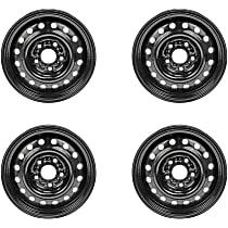 SET-RB939158-4 Black Finish Wheel - 16 in. Wheel Diameter X 6.5 in. Wheel Width