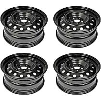 SET-RB939174-4 Black Finish Wheel - 16 in. Wheel Diameter X 6.5 in. Wheel Width