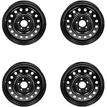 SET-RB939184-4 Black Finish Wheel - 16 in. Wheel Diameter X 6.5 in. Wheel Width