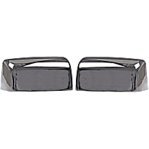 Mirror Cover - Driver and Passenger Side, Chrome, Plastic, Direct Fit, Set of 2