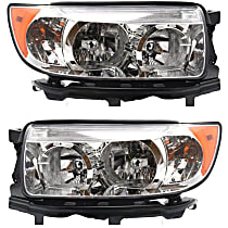 Driver and Passenger Side Halogen Headlight, With Bulb(s) - Models Without Sport Package