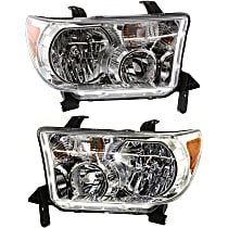 Driver and Passenger Side Headlights, With bulb(s) - 08-18 Sequoia / 07-13 Tundra (09-13 w/o Level adjuster)