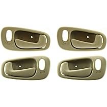 Front and Rear, Driver and Passenger Side Interior Door Handle, Beige, Fits Models With Power Door Lock