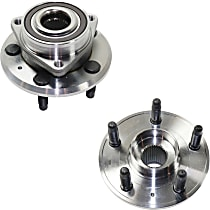Wheel Hub With Bearing - Set of 2 Front or Rear, Driver and Passenger Side