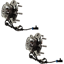 Wheel Hub and Bearing - Front, Driver and Passenger Side, Set of 2, 4WD, Dual Rear Wheels, 12,000 lb. GVW
