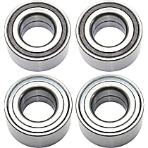 Wheel Bearing - Front and Rear, Driver and Passenger Side, Set of 4