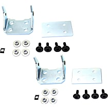 Replacement Door Hinge - SET-RC46390001 - Front, Driver and Passenger Side, Lower, Chrome, Direct Fit, Set of 2