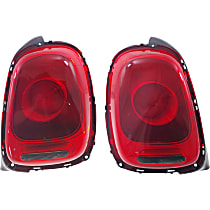 Driver and Passenger Side Tail Light, With bulb(s) - Red Lens, w/ Halogen Headlights, Convertible 16-17/Hatchback