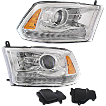 Driver and Passenger Side HID/Xenon Headlight, With bulb(s)