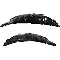 Fender Liner - Front, Driver and Passenger Side, Rear Section, with Premium Type