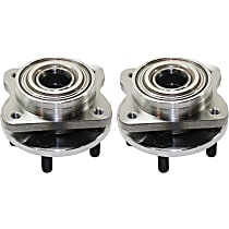 Front, Driver and Passenger Side Wheel Hub With Ball Bearing For Models With 14 Inch Wheels