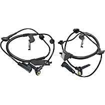 Front, Driver and Passenger Side ABS Speed Sensor - Set of 2