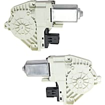 Front, Driver and Passenger Side Window Motor, New