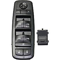 Window Switch - Front, Driver and Passenger Side, Black, 1-Button and 10-Button, 4-Door, Crew Cab Pickup