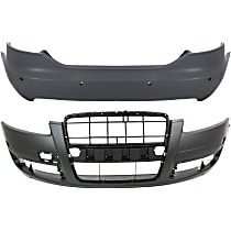 Front and Rear Bumper Cover, Primed - Type 1, Sedan