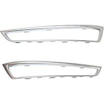 Driver and Passenger Side, Outer Grille Trim - Painted Silver