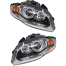 HID (Xenon) Headlight, Non-AFS (Adaptive Front-lighting System), Driver and Passenger Side, w/o Bulbs & Ballast