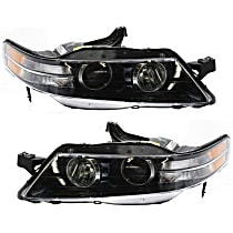 Driver and Passenger Side Headlight, Without bulb(s) - Type-S Model