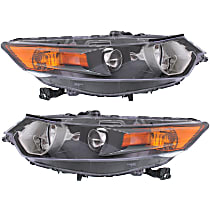 Driver and Passenger Side HID/Xenon Headlight, Without Headlight Bulb; With high beam and signal light bulb(s)