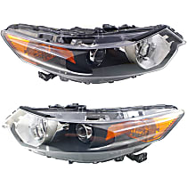 CAPA Certified Driver and Passenger Side HID/Xenon Headlight, Without Headlight Bulb; With high beam and signal light bulb(s)