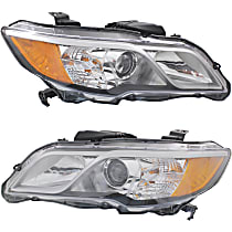 CAPA Certified Driver and Passenger Side Halogen Headlight, With bulb(s)