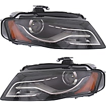 Driver and Passenger Side HID/Xenon Headlight, Without Bulb(s) - B8 Body Code