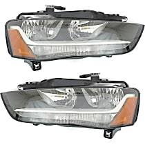Driver and Passenger Side Headlight, With bulb(s) - B8 Body Code