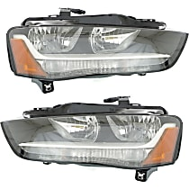 Driver and Passenger Side Halogen Headlight, With Bulb(s) - B8 Body Code