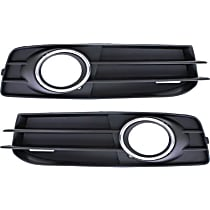 Fog Light Trim - Driver and Passenger Side, Black, with Chrome Trim, with Sport Package