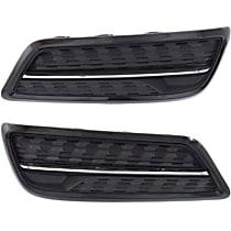 Driver and Passenger Side Fog Light Cover, Black and chrome
