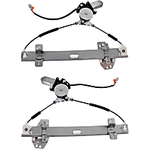 Rear, Driver and Passenger Side Power Window Regulator, With Motor