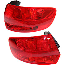 Driver and Passenger Side, Outer Tail Light, Without bulb(s) - Red Lens, To VIN A112778