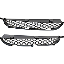 Driver and Passenger Side Bumper Grille, Black