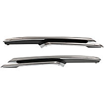 Front, Driver and Passenger Side Bumper Trim, Chrome
