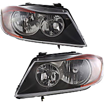 Driver and Passenger Side Halogen Headlight, With Bulb(s) - Sedan(E90)/Wagon(E91)