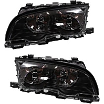 Headlights - Driver and Passenger Side, Pair, For Coupe or Convertible, With Bulb(s)
