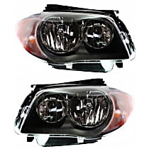 Driver and Passenger Side Halogen Headlight, With bulb(s) - To 3-11