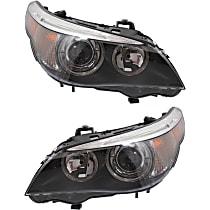 Headlights - Driver and Passenger Side, Pair, HID/Xenon, Models w/o Adaptive Headlamps