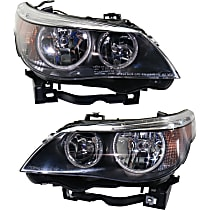 Driver and Passenger Side Halogen Headlight, With bulb(s) - Sedan(04-07)/Wagon (06-07)