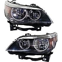 Driver and Passenger Side Halogen Headlight, With Bulb(s) - Sedan/(Wagon 06-07), Vehicles w/o Auto Adj