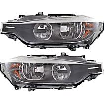 Driver and Passenger Side Halogen Headlight, With bulb(s) - Sedan/Wagon