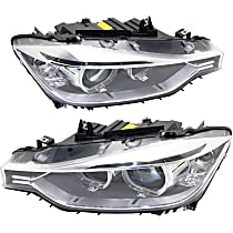 Driver and Passenger Side HID/Xenon Headlight, Without bulb(s) - Sedan/Wagon