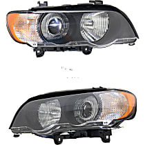 Driver and Passenger Side HID/Xenon Headlight, With bulb(s) - With White Turn Signal