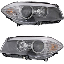 Driver and Passenger Side Headlight, With bulb(s) - Without Auto Adjust Headlights,, Sedan